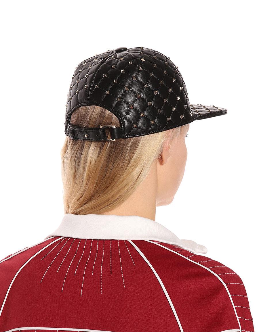 VALENTINO Valentino Garavani Rockstud Spike leather cap