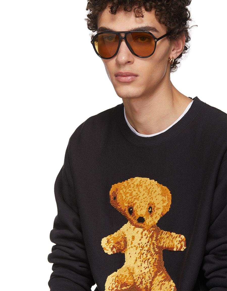 GUCCI Black Teddy Bear Sweatshirt