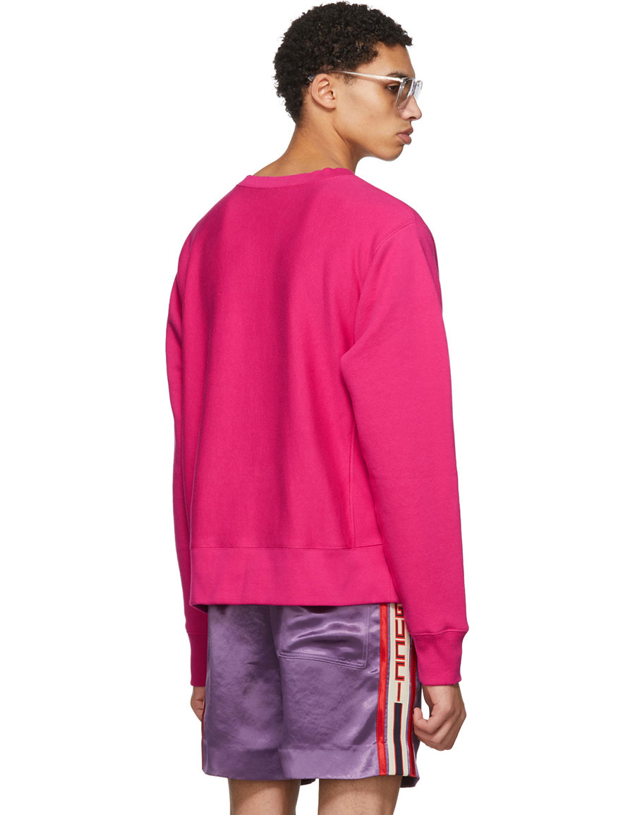 60d03a6fa GUCCI Pink 'Guccy' Teddy Bear Sweatshirt · VERGLE