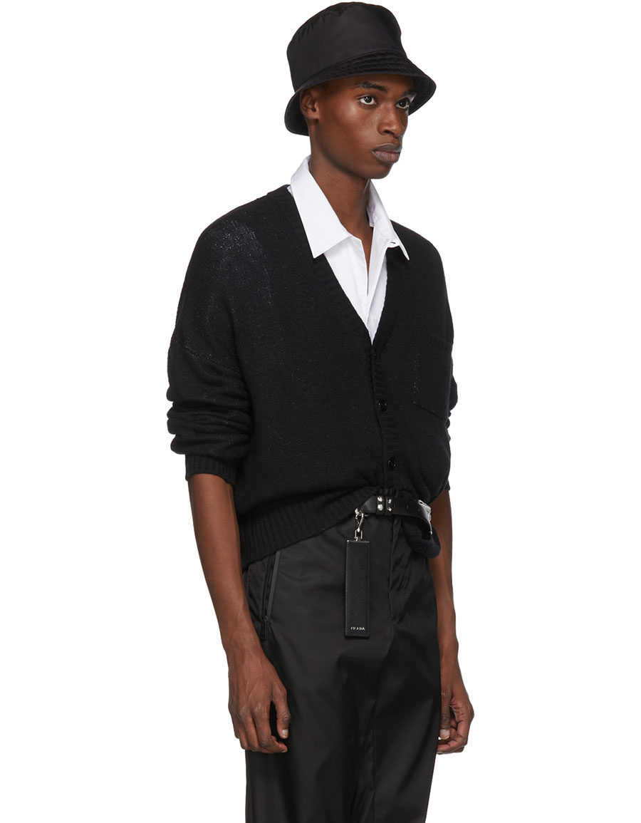 PRADA Black Cashmere Cardigan