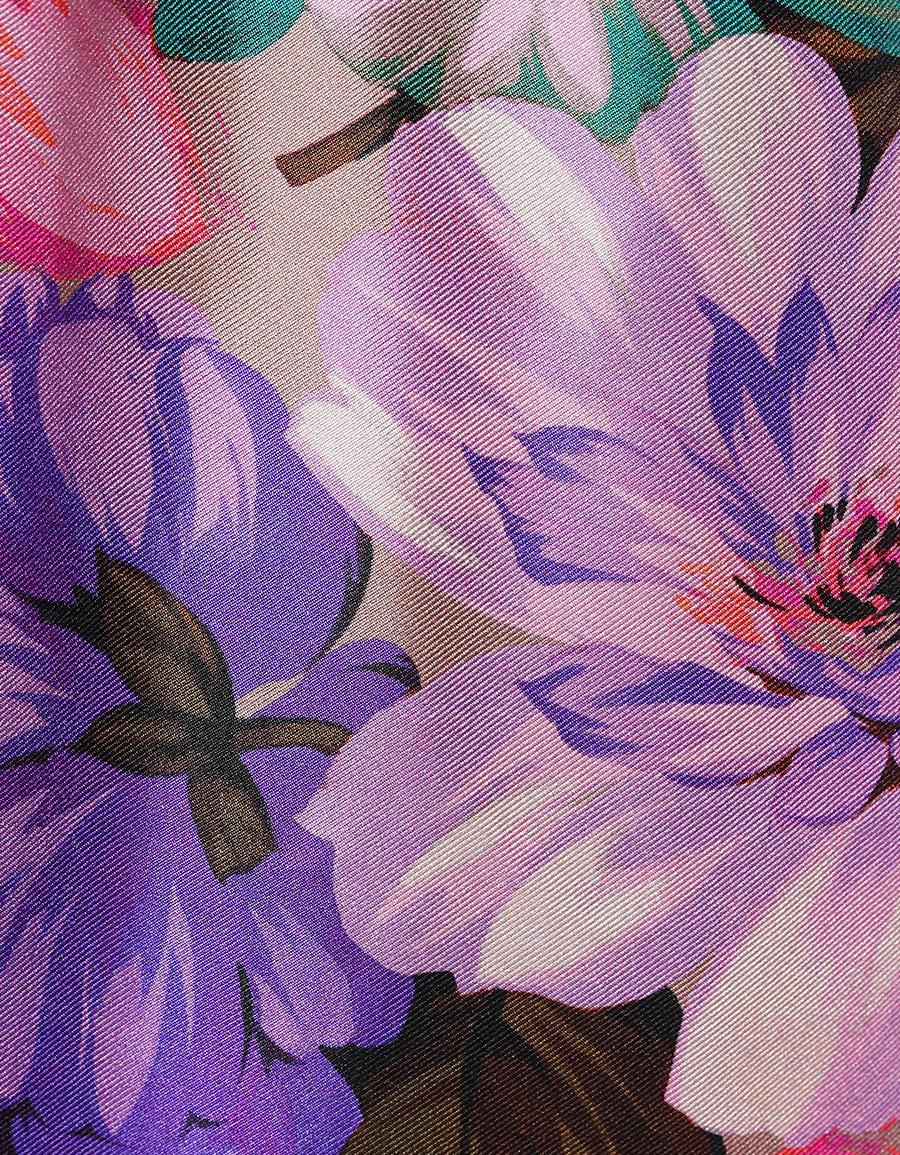 MSGM Floral printed silk dress