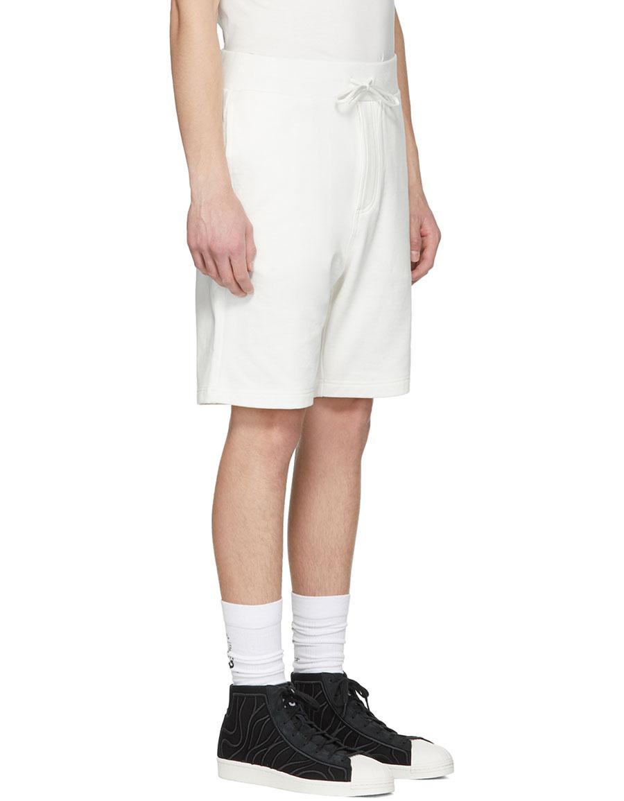 Y 3 White Classic Logo Shorts