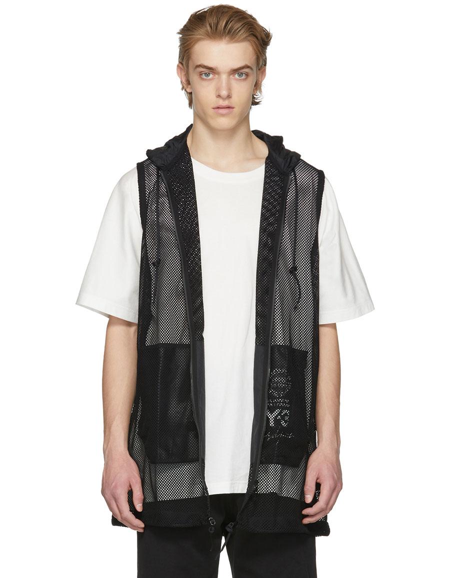 Y 3 Black Mesh Vest