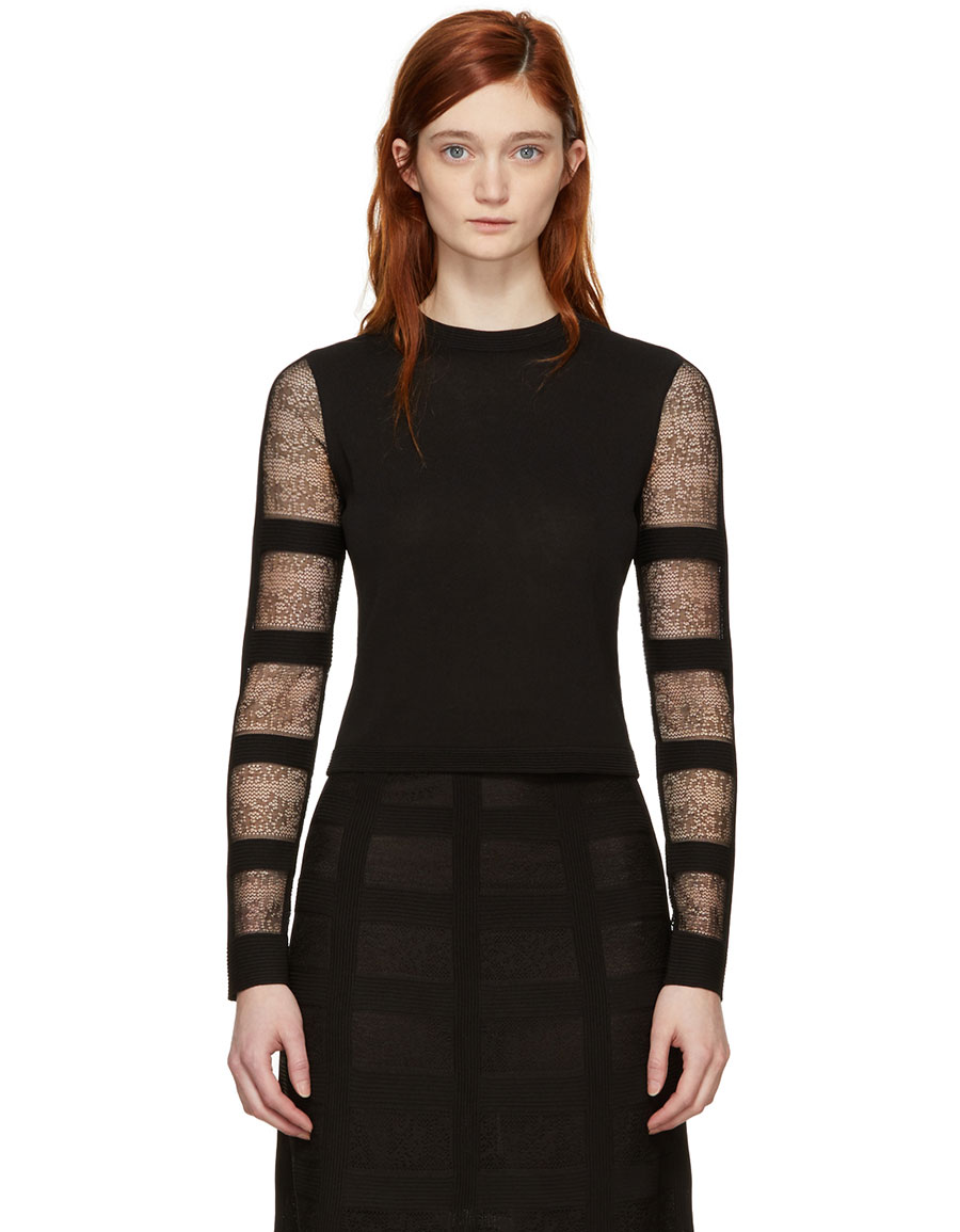 ALEXANDER MCQUEEN Black Corset Sweater