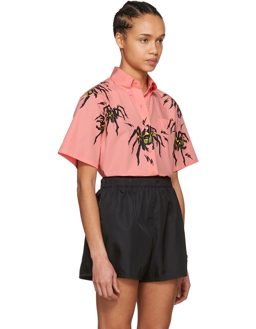 Pink Spider Comic Shirt Prada Discount Collections Online Shopping Buy Cheap Big Discount Discount 100% Authentic 142lzPjV