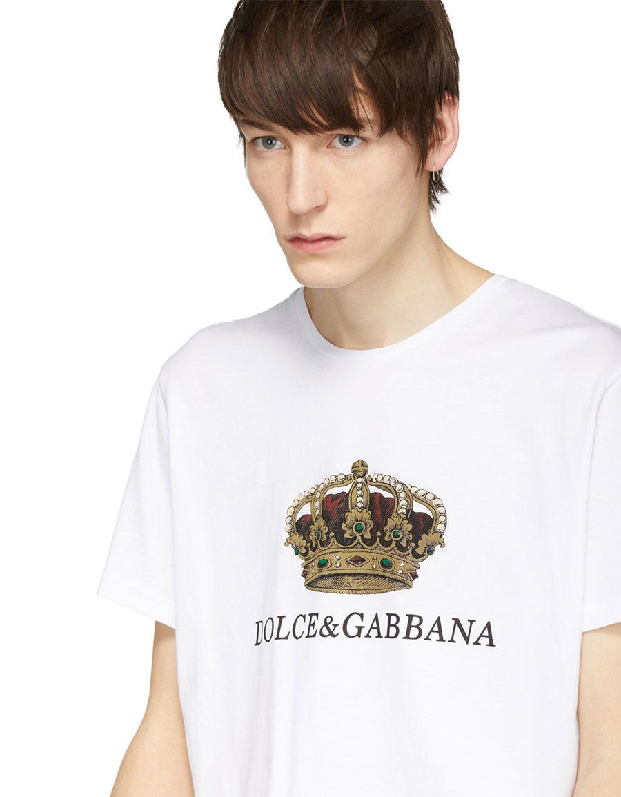 DOLCE & GABBANA White Crown T Shirt