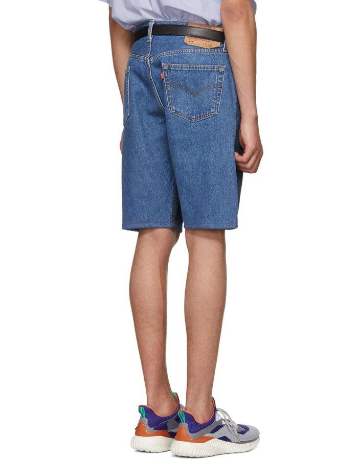 BLESS Blue Denim Pleatfront Shorts