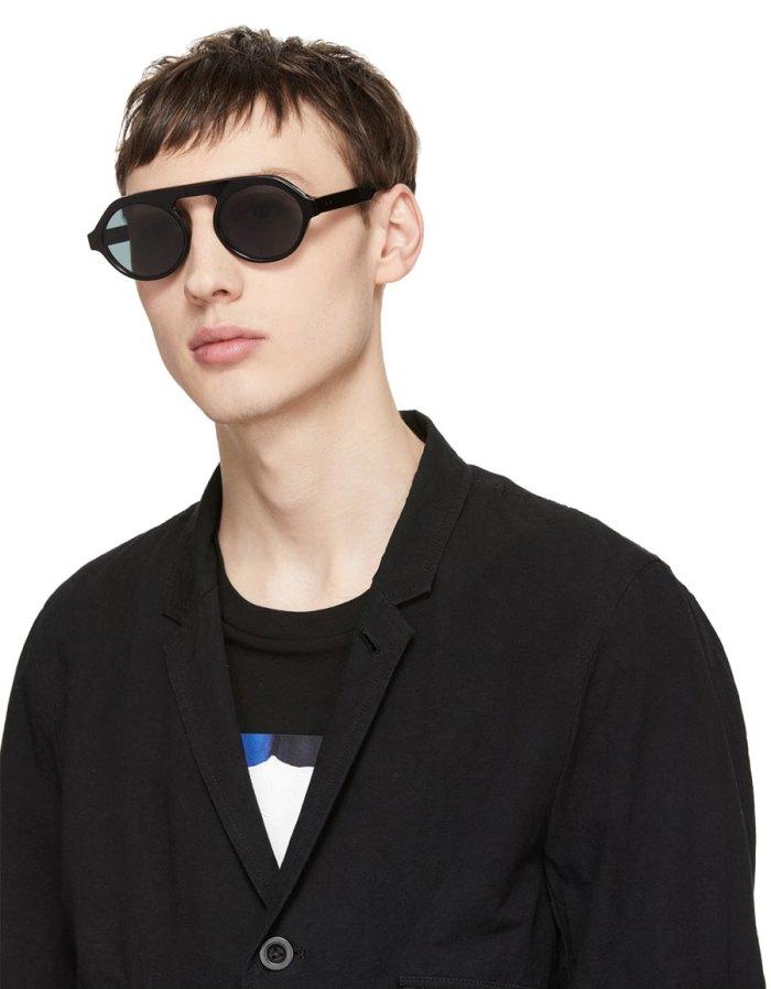 THOM BROWNE Black & Dark Grey TB 413 Sunglasses
