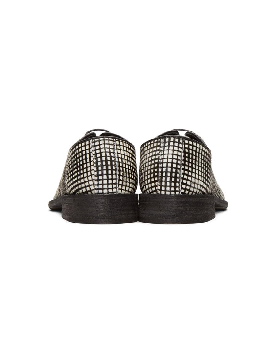 HAIDER ACKERMANN Black & White Okenite Pony Loafers