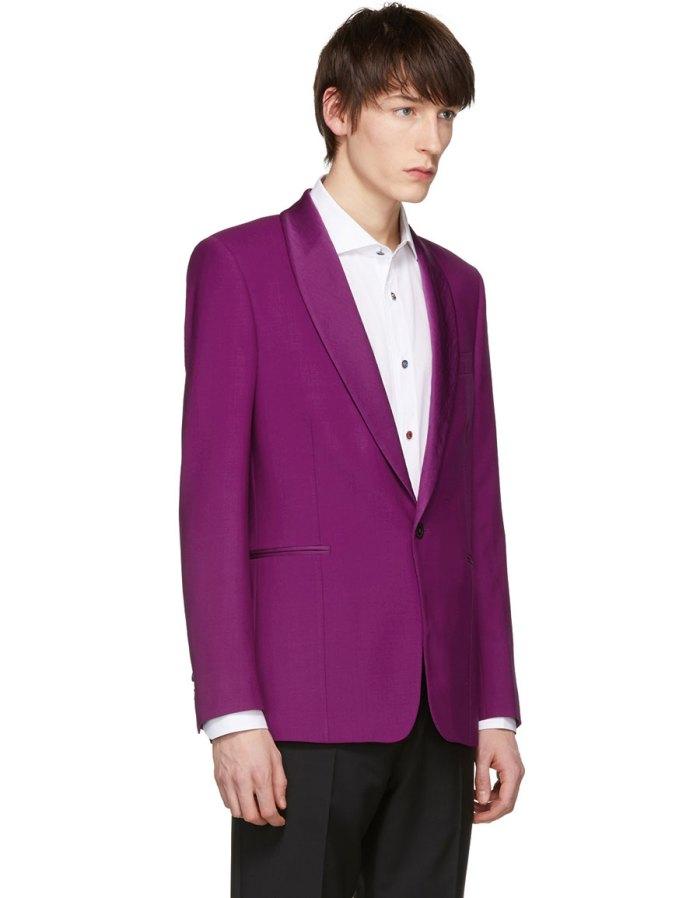 PAUL SMITH Purple Shawl Lapel Blazer