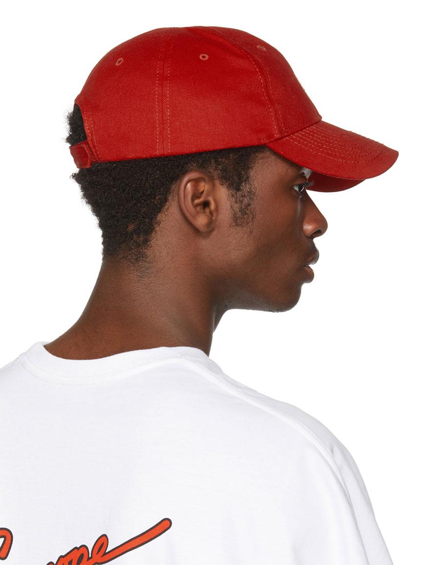 BALENCIAGA Red Multi Logo Cap