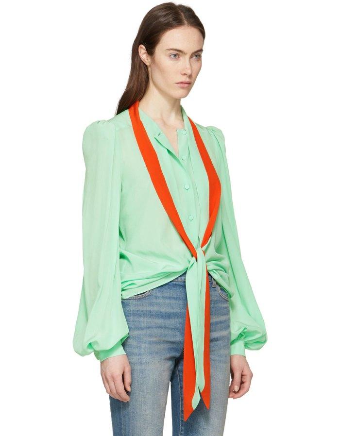 GIVENCHY Green & Orange Tie Shirt