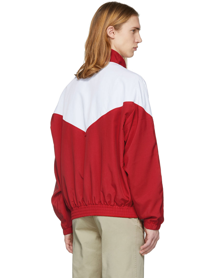 NOON GOONS Red & White Mall Jogger Jacket
