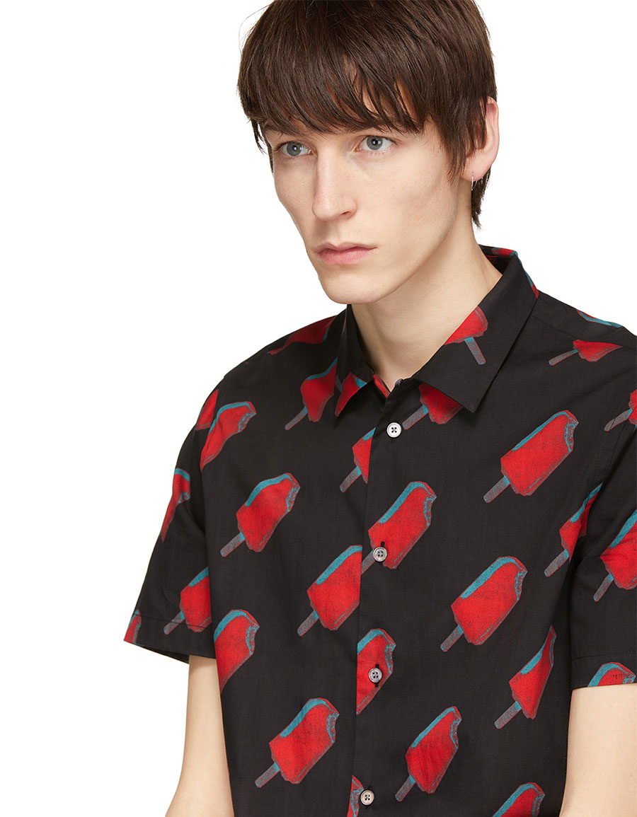 PAUL SMITH Black & Red Popsicle Shirt
