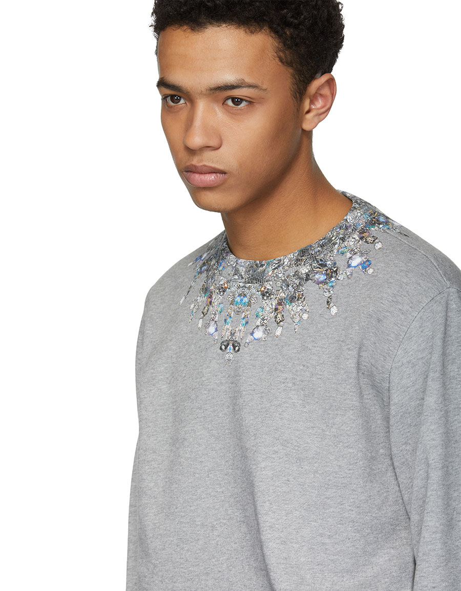 GIVENCHY Grey Jewel Sweatshirt
