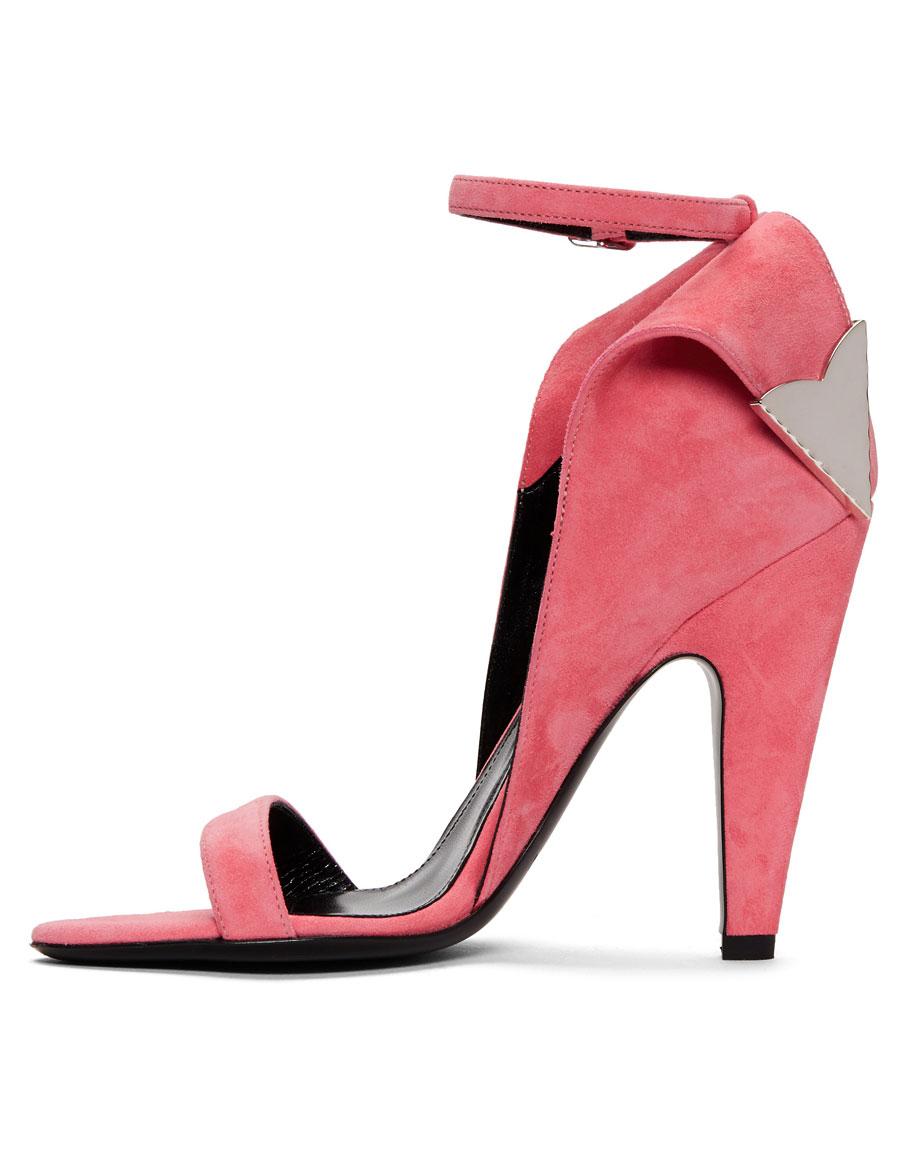CALVIN KLEIN Pink Suede Leititia Sandals