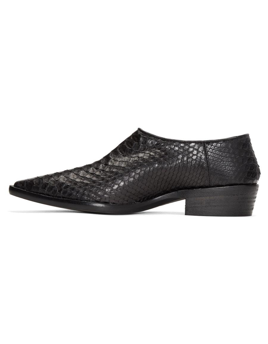 HAIDER ACKERMANN Black Python Visconti Loafers