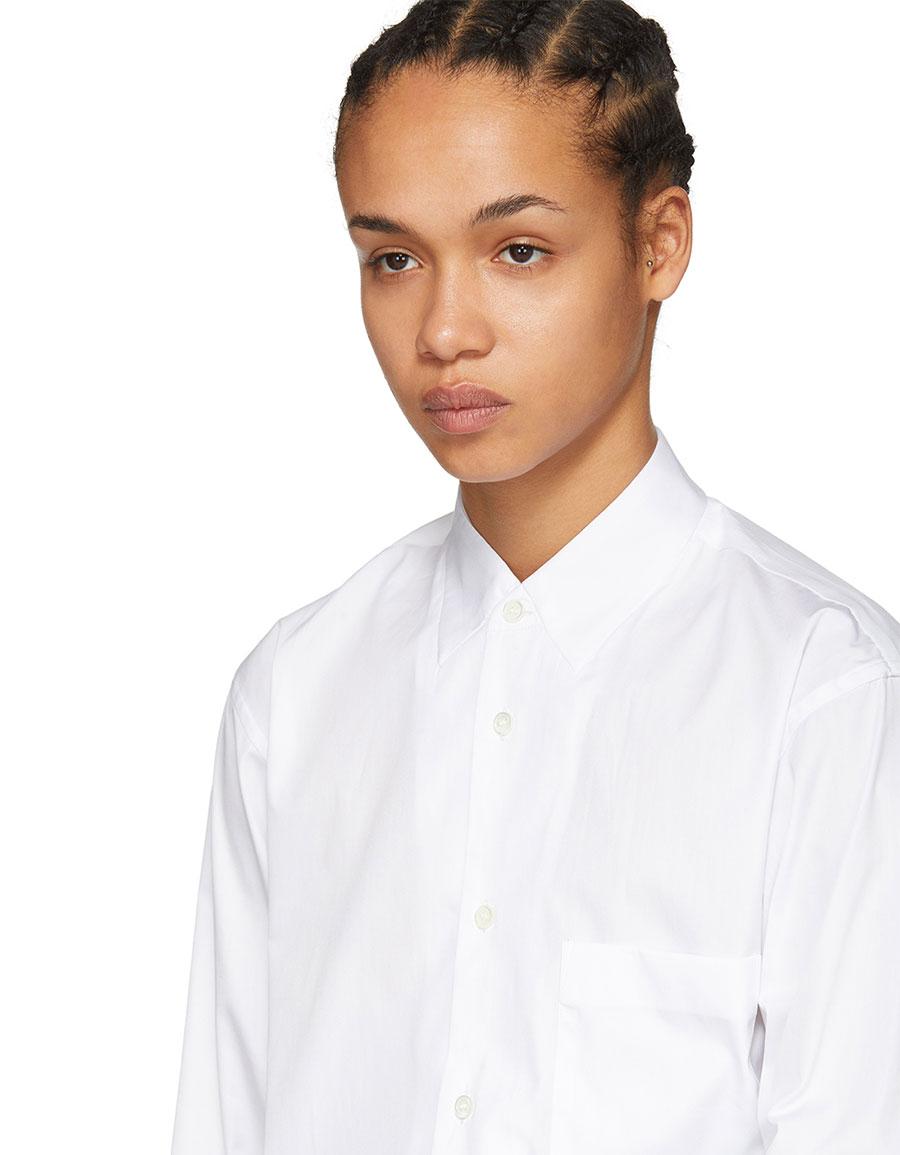 COMME DES GARÇONS White Plain Poplin Shirt