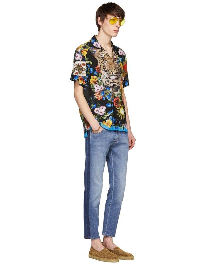 DOLCE & GABBANA Multicolor Print Shirt