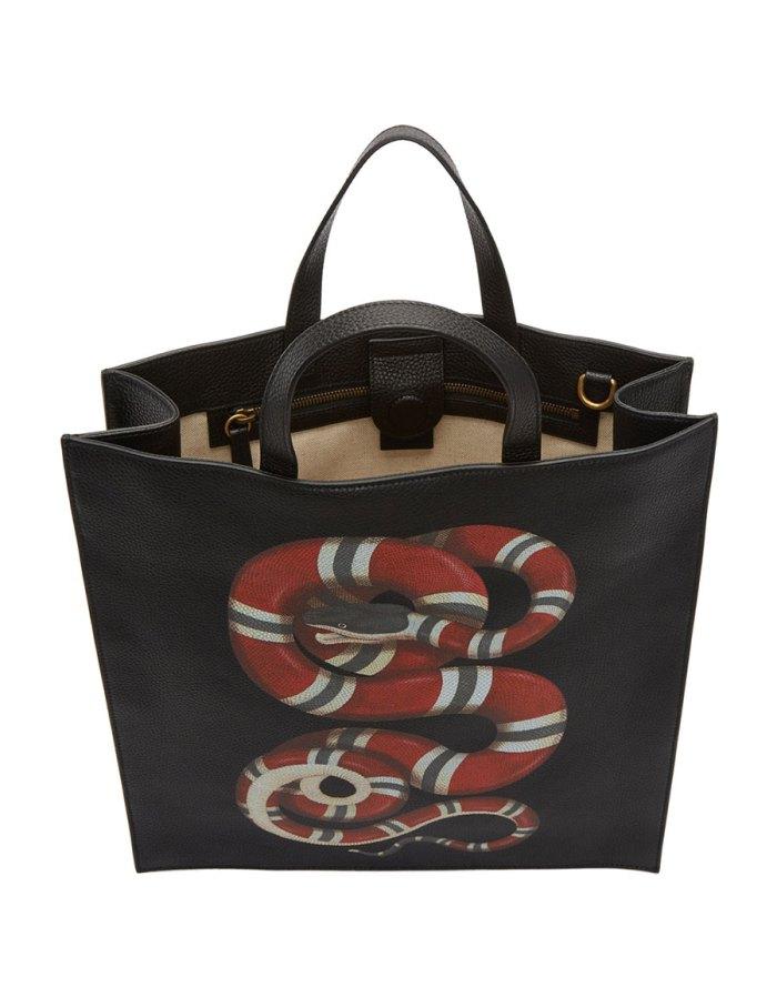 GUCCI Black Snake Tote