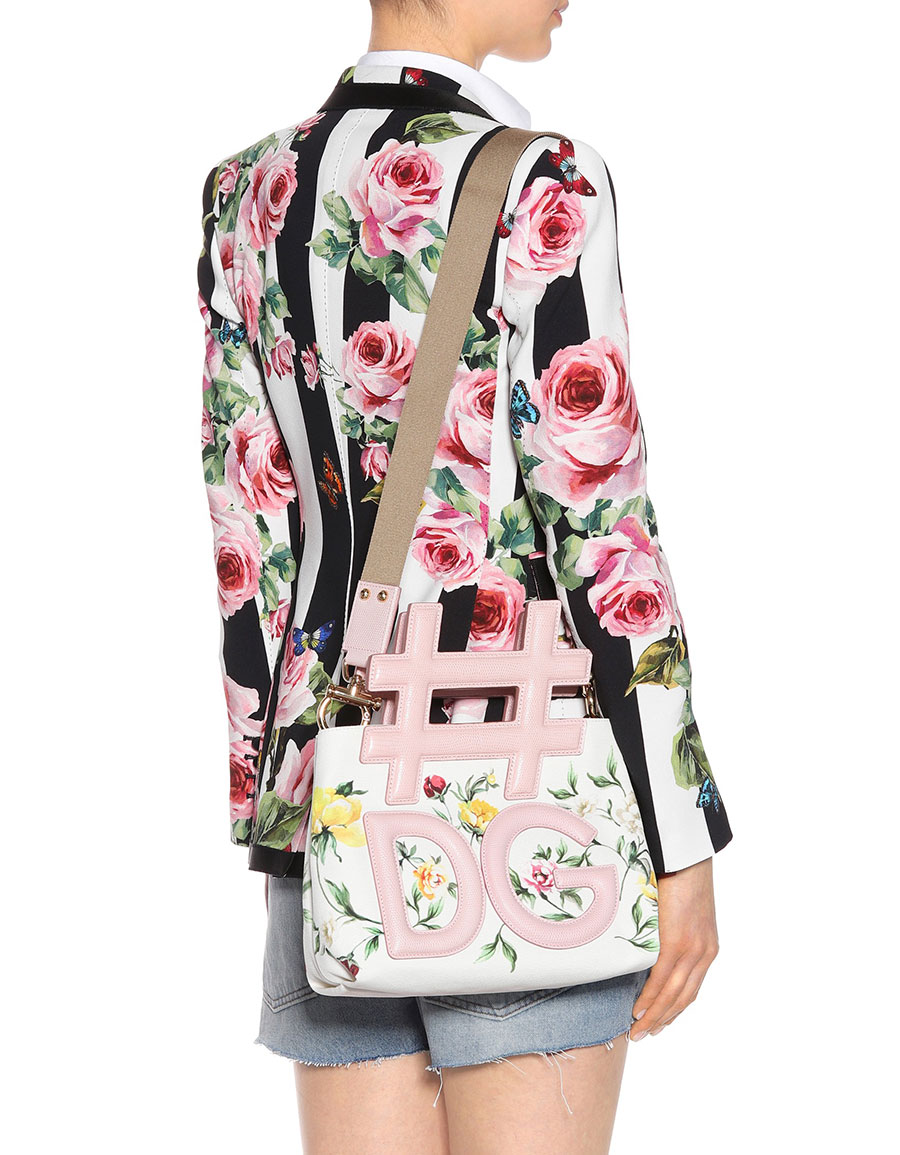 DOLCE & GABBANA Floral printed canvas tote