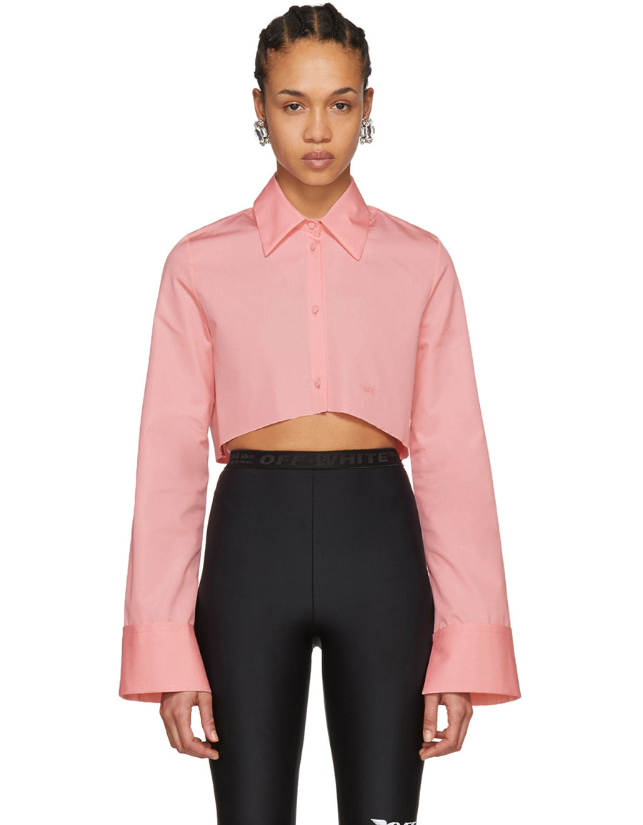 OFF WHITE Pink Cropped Shirt