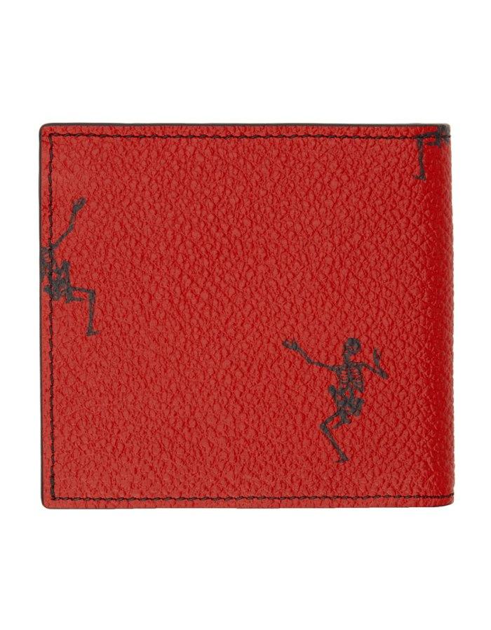 ALEXANDER MCQUEEN Red Dancing Skeleton Wallet