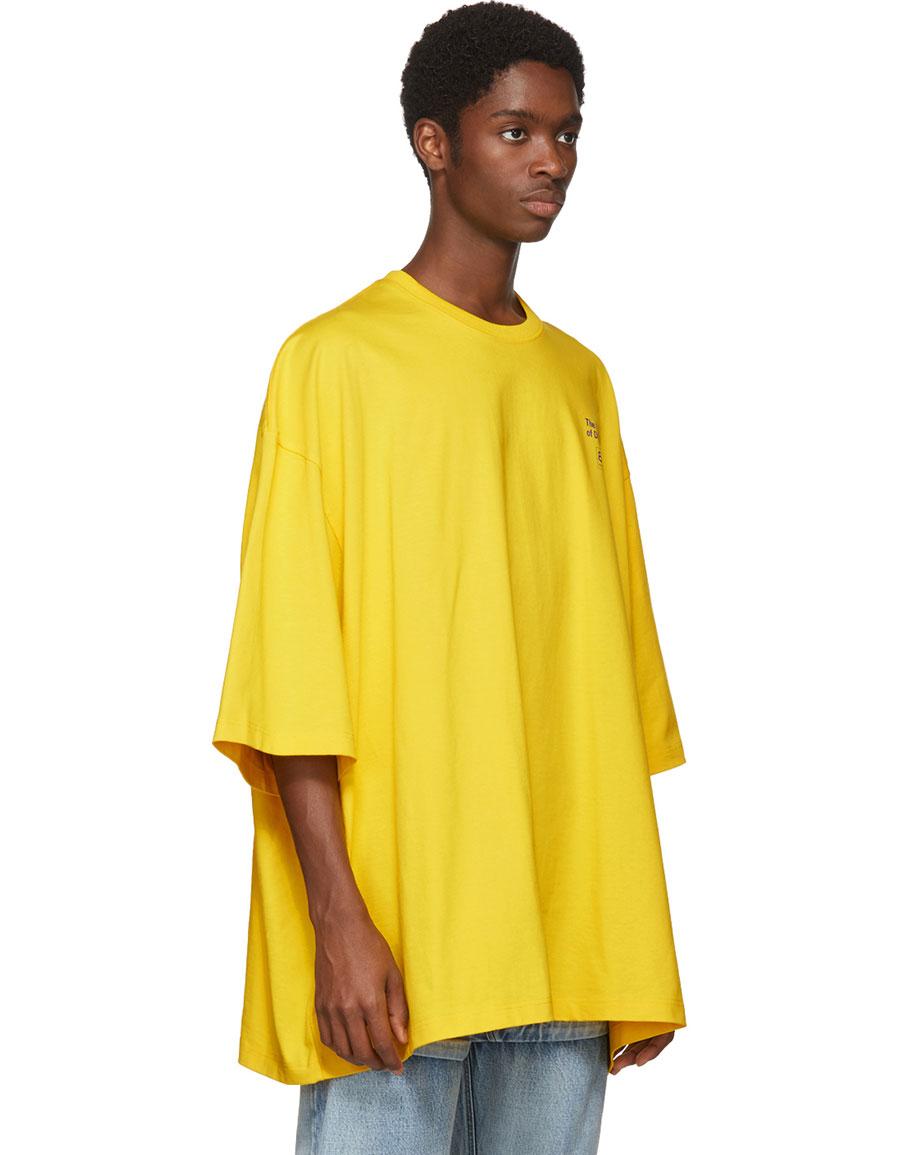 BALENCIAGA Yellow 'Power of Dreams' Big Fit T Shirt