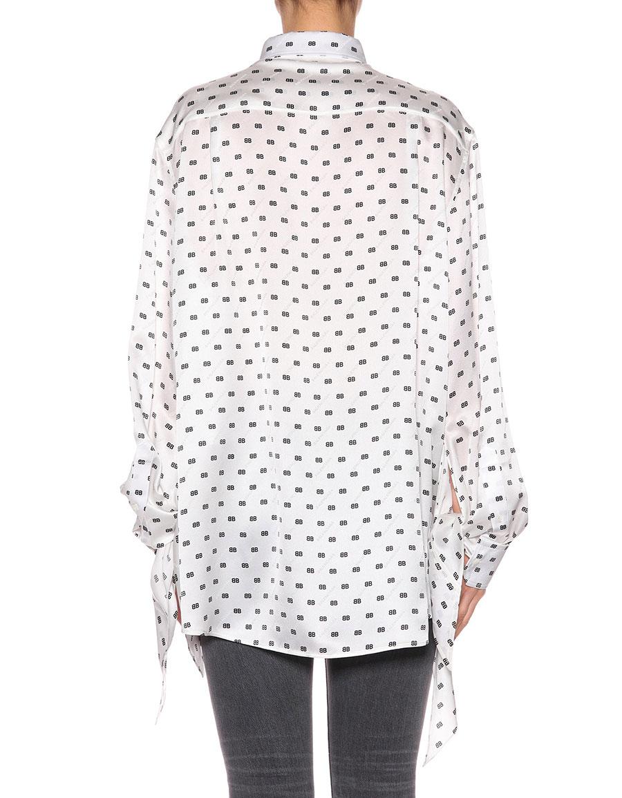db3077c323cea BALENCIAGA Printed silk blouse · VERGLE