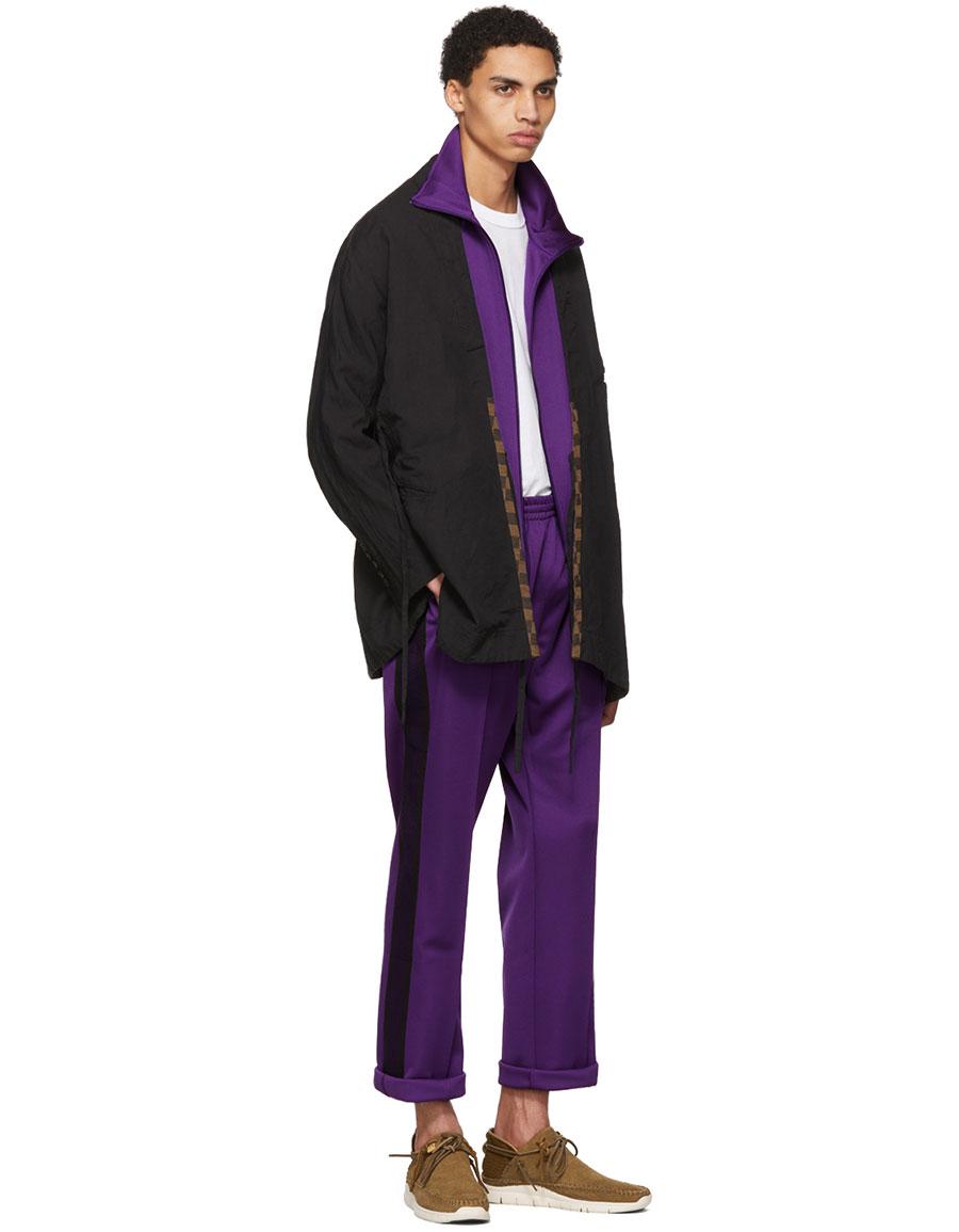 NEEDLES Purple Butterfly Track Jacket