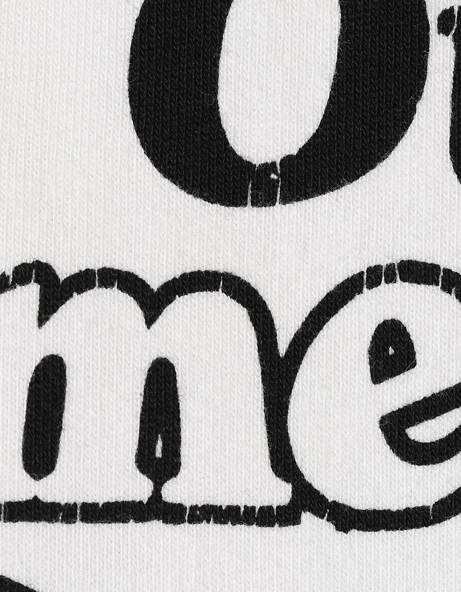 VETEMENTS Printed cotton blend hoodie