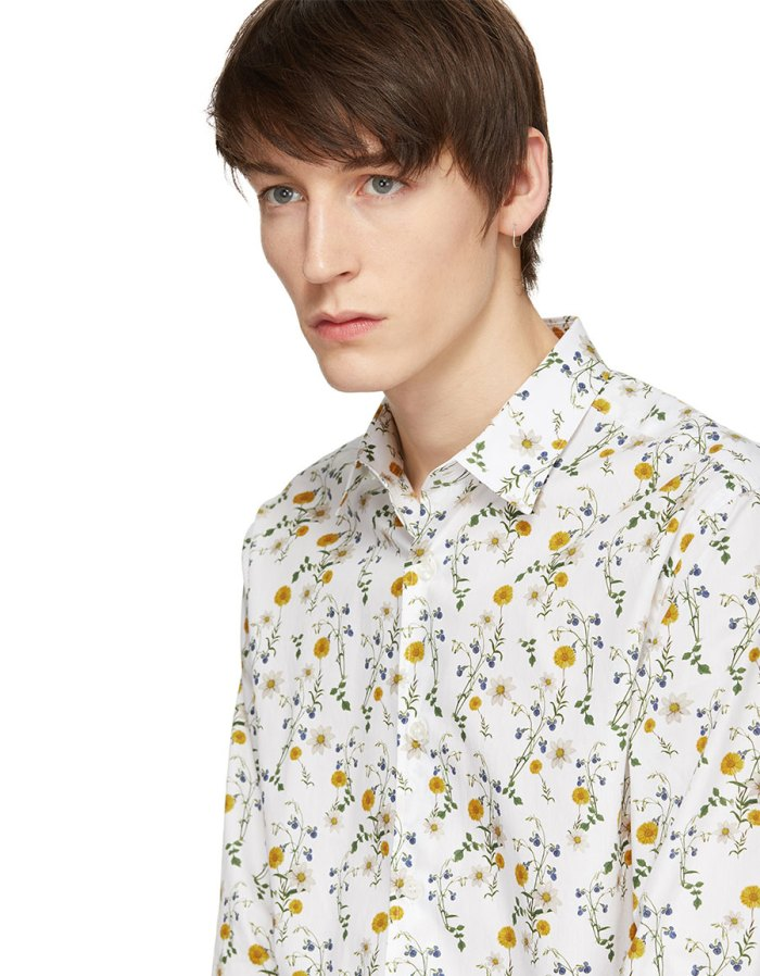 TIGER OF SWEDEN Off White Farrell Shirt