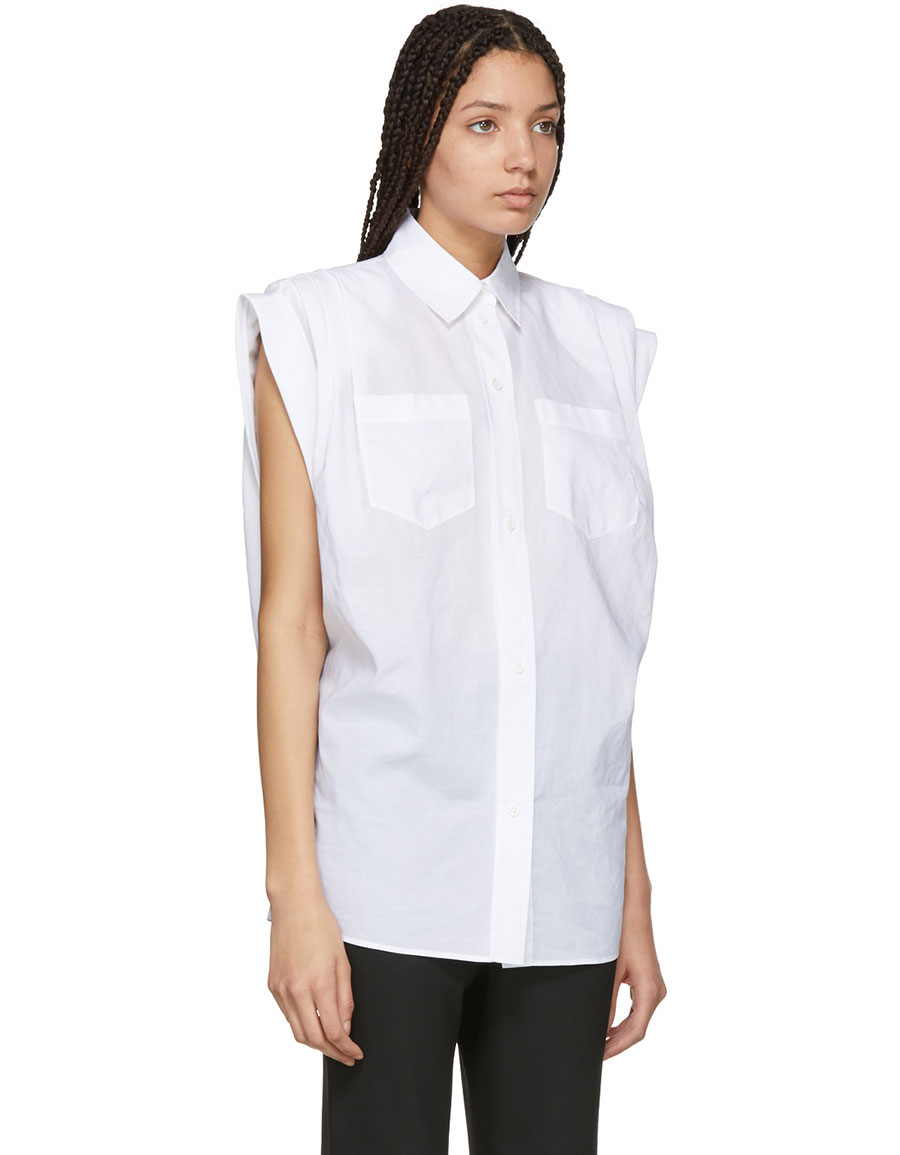GIVENCHY White Cuffed Sleeves Shirt