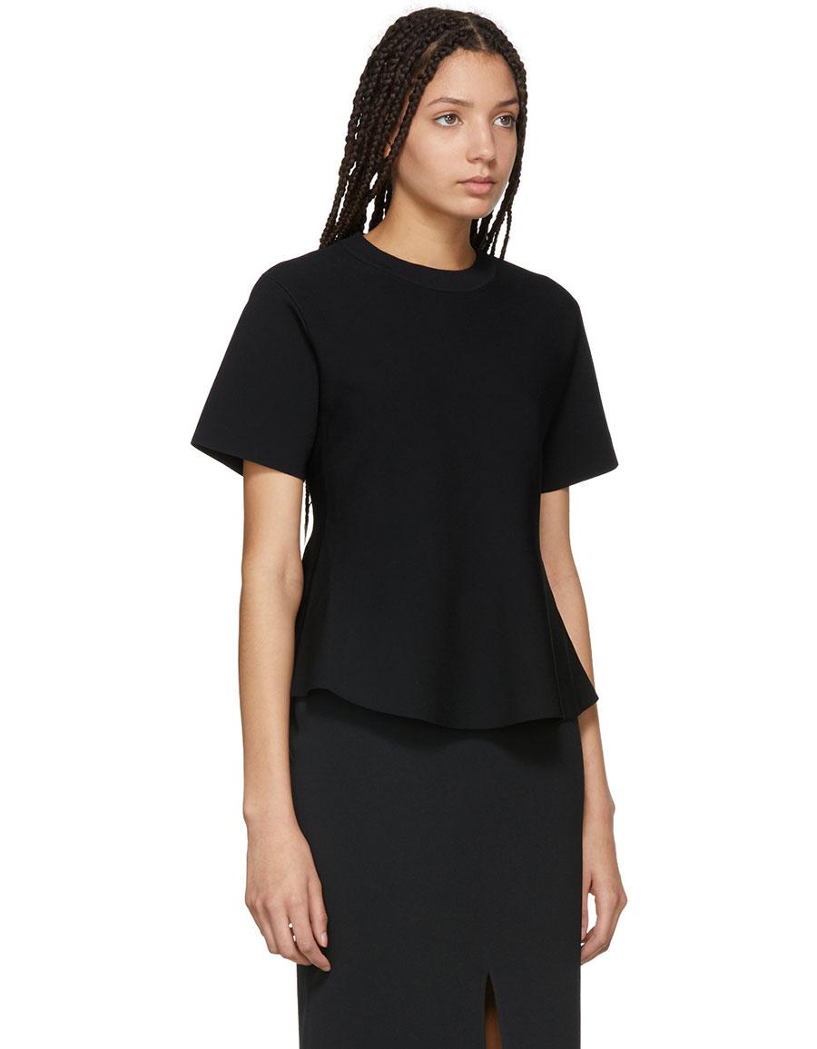 PROENZA SCHOULER Black Flare Knit Top