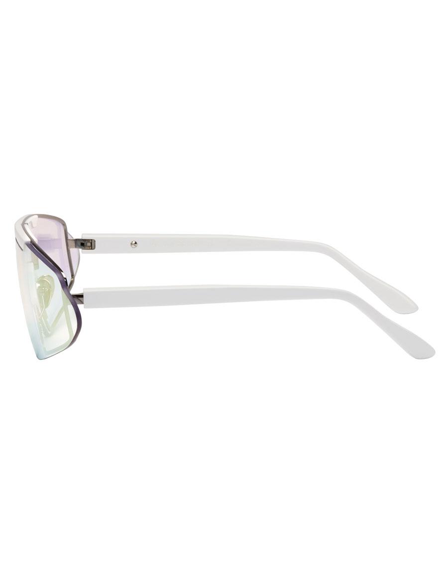 ACNE STUDIOS White Bornt Sunglasses