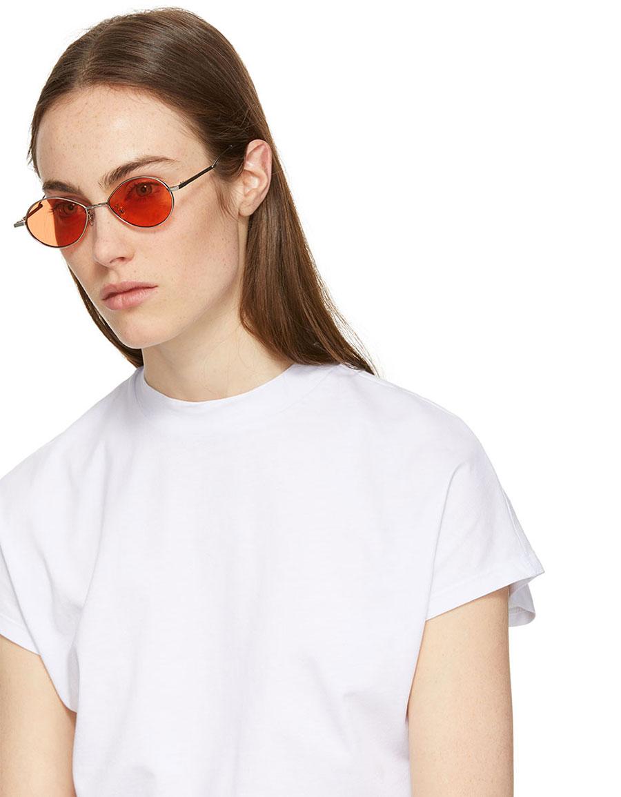 GENTLE MONSTER Silver & Orange Cobalt Sunglasses