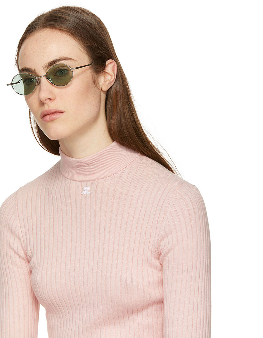 GENTLE MONSTER Silver & Green Cobalt Sunglasses