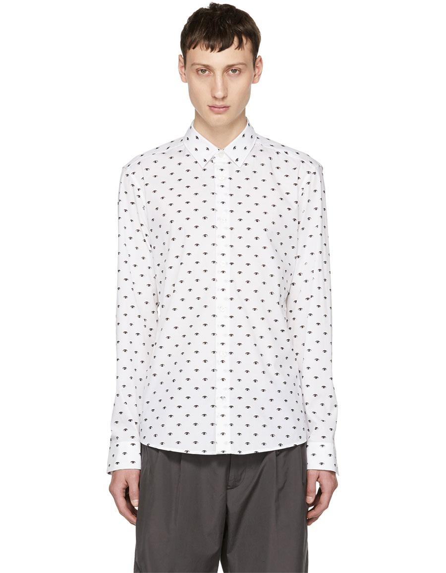 KENZO White All Over Eyes Shirt