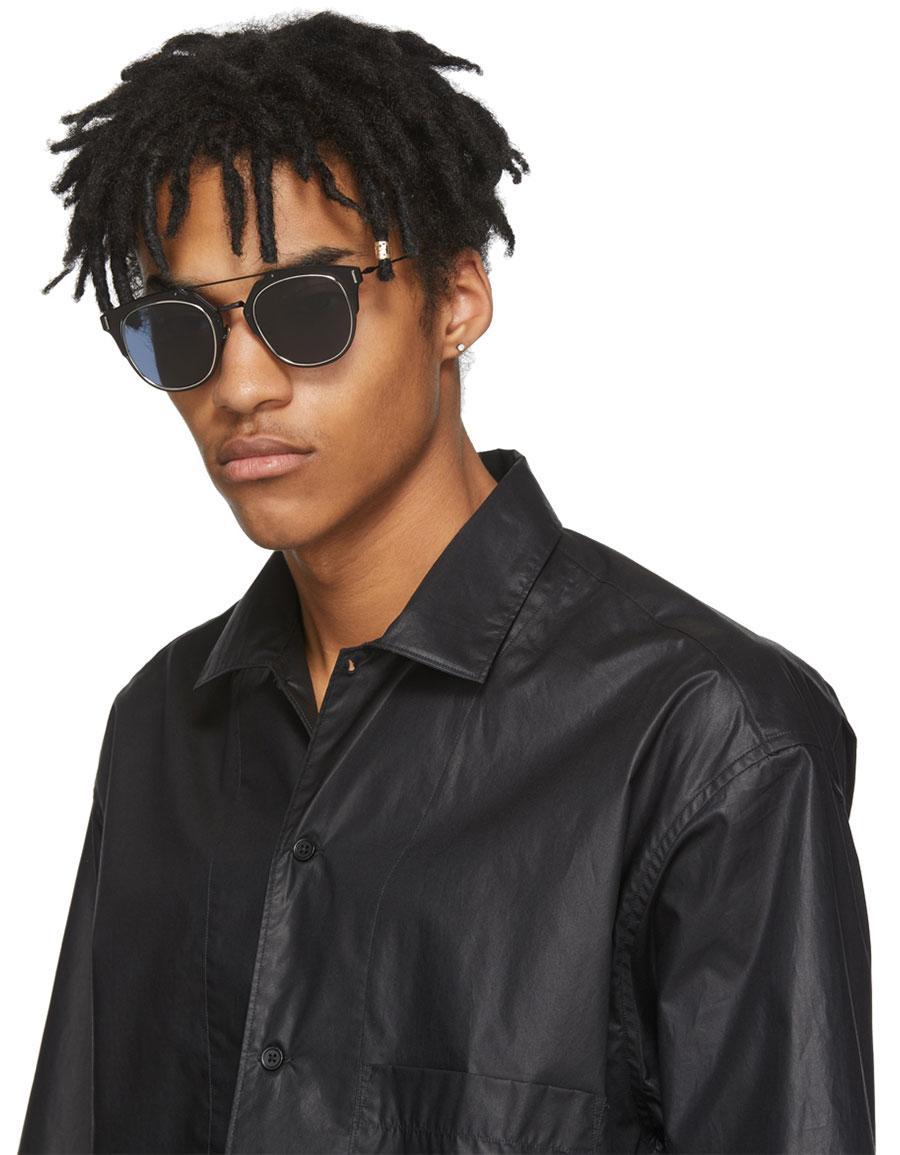 DIOR Navy 'Dior Composit 1.0' Sunglasses