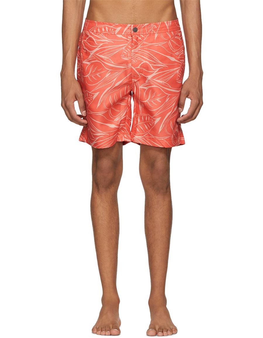 ONIA Orange Calder Swim Shorts