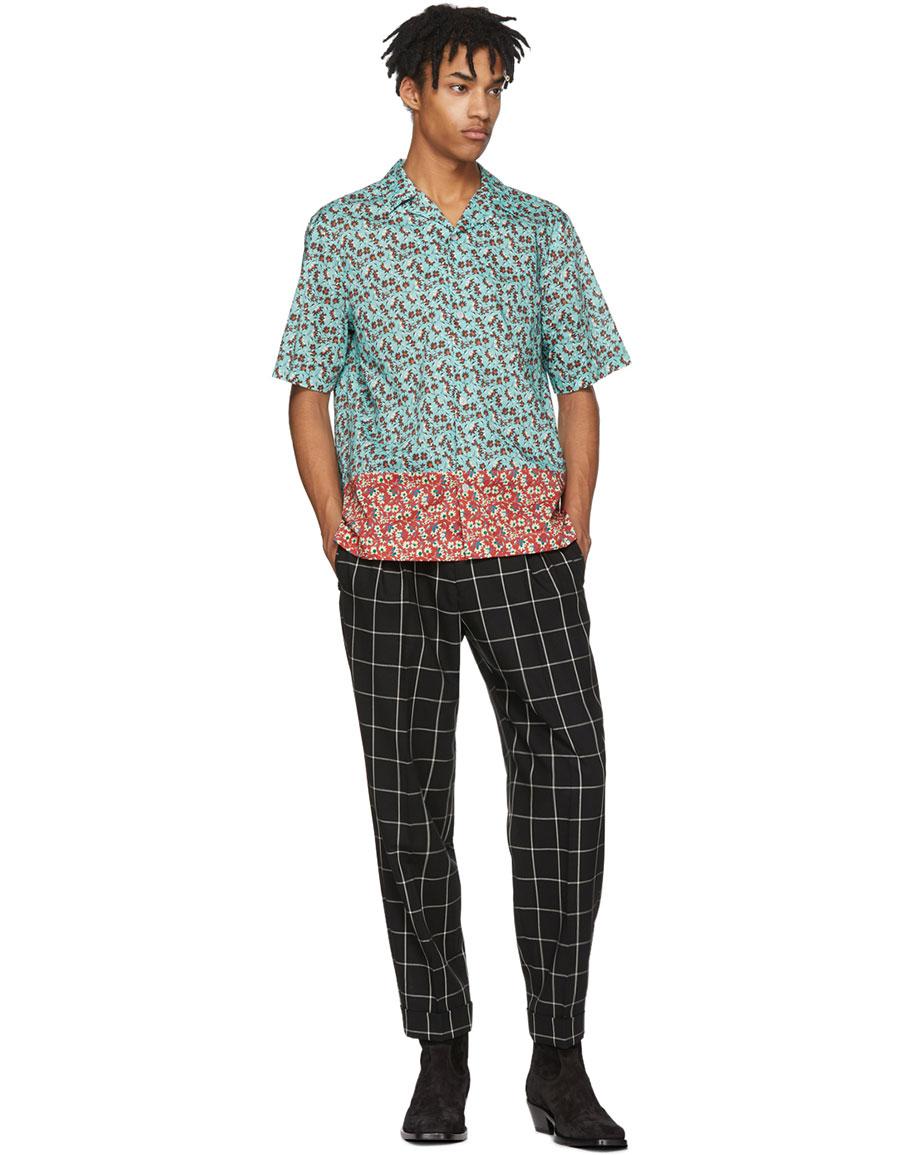 PAUL SMITH Multicolor Dual Print Button Up Shirt