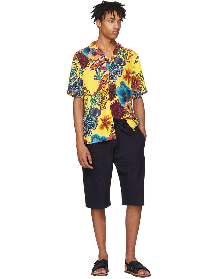 PAUL SMITH Yellow Hawaiian Print Shirt