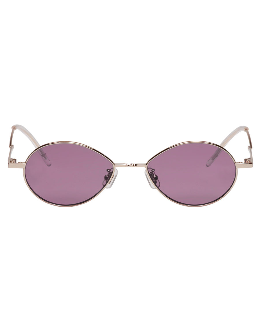 GENTLE MONSTER Silver & Purple Cobalt Sunglasses