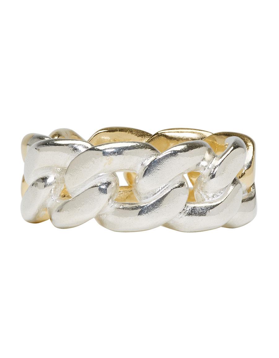 MAISON MARGIELA Gold & Silver Curb Chain Ring
