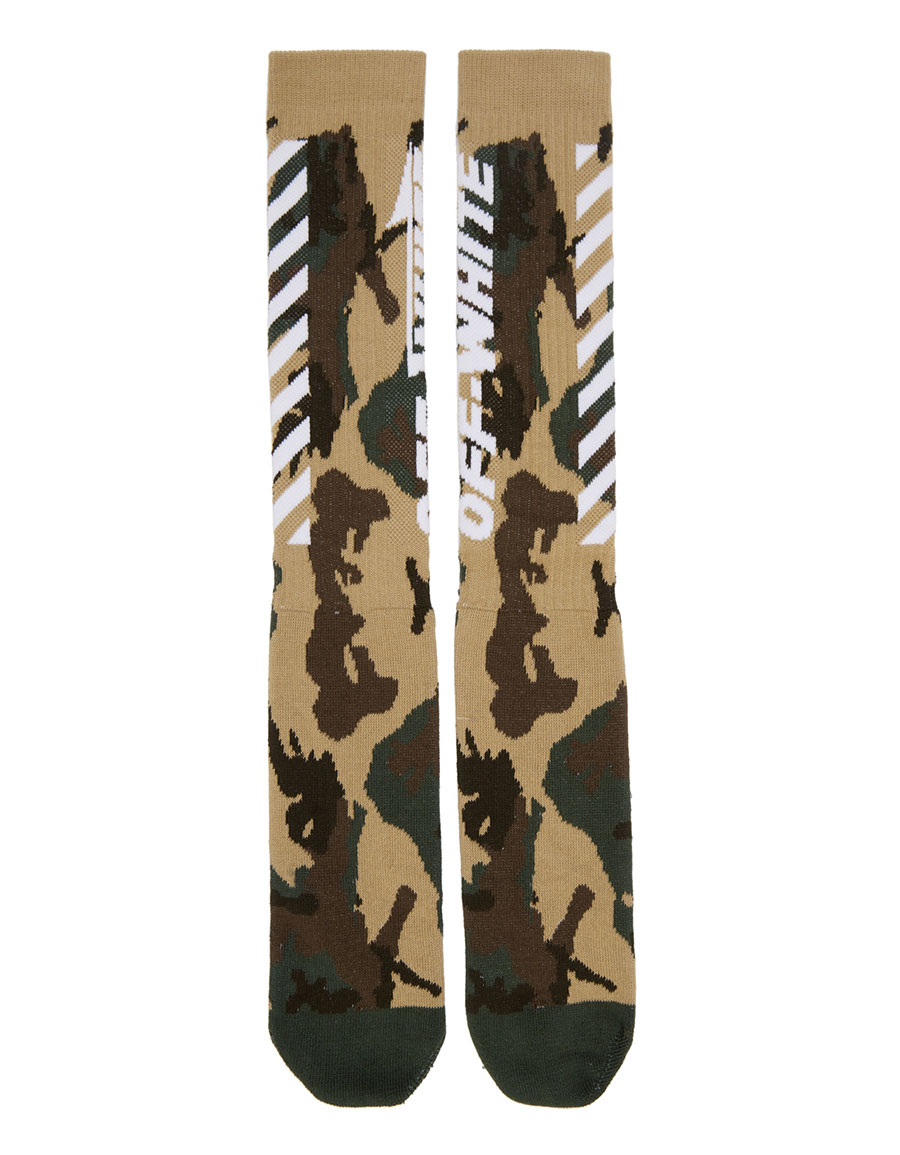 OFF WHITE Multicolor Camo Wing Off Socks