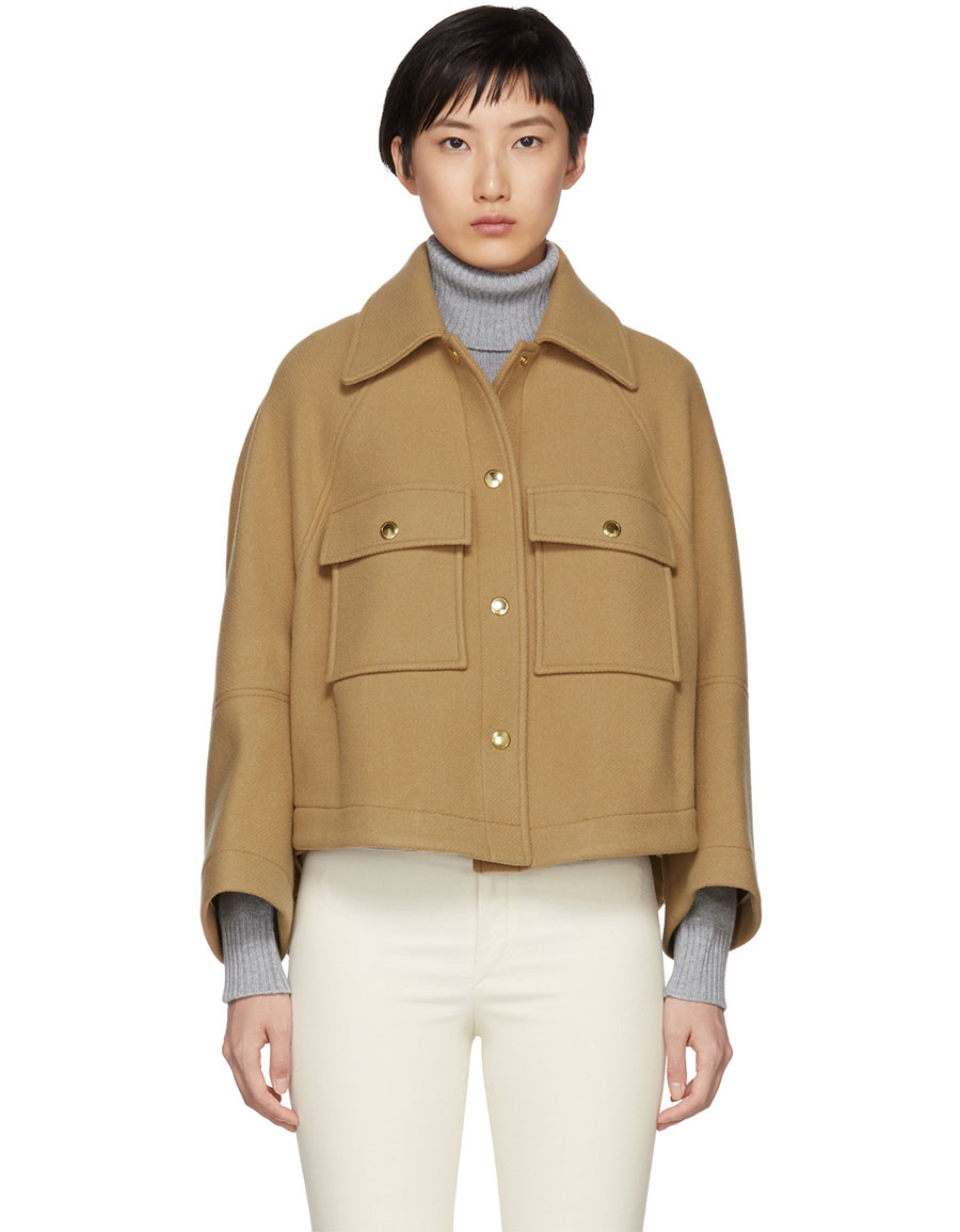 CHLOÉ Brown Loose Fitted Shirt Jacket
