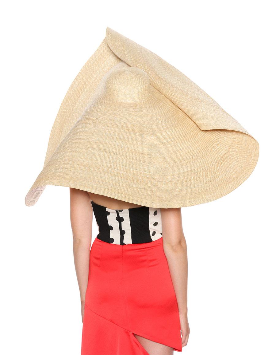 JACQUEMUS Le Grand Chapeau Bomba straw hat