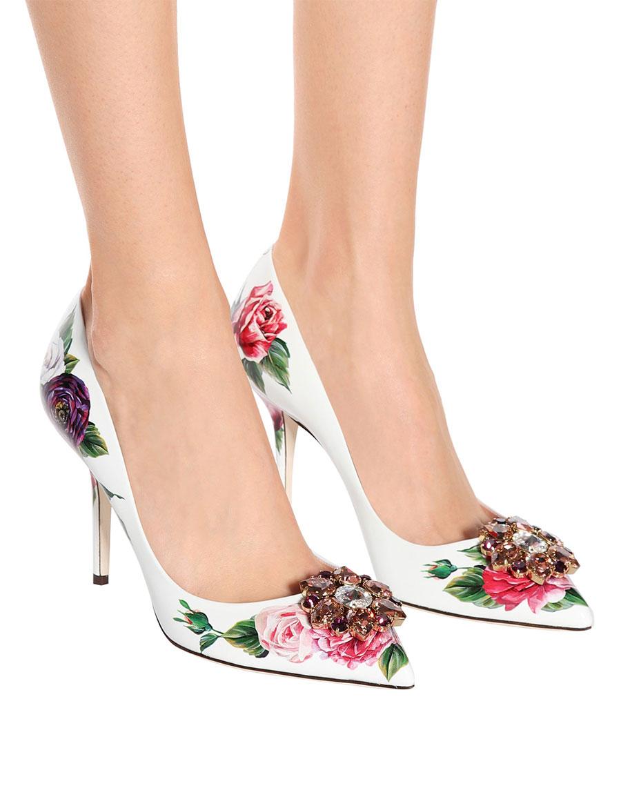 DOLCE   GABBANA Floral-printed patent leather pumps · VERGLE 352dece73be57