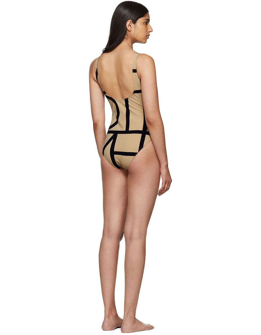 TOTÊME Beige Positano Swimsuit