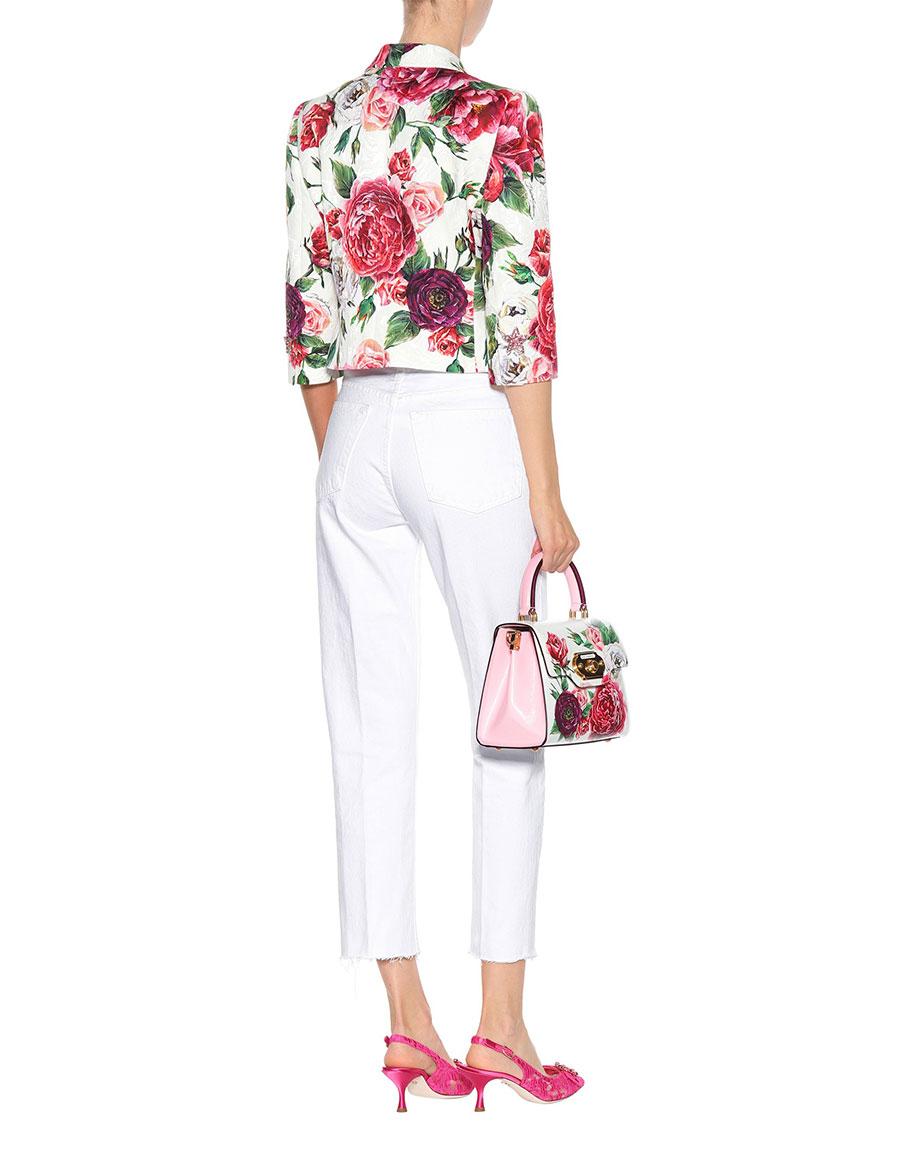 DOLCE & GABBANA Floral printed jacquard blazer